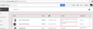 google play上海淘Nexus 5的预定状态