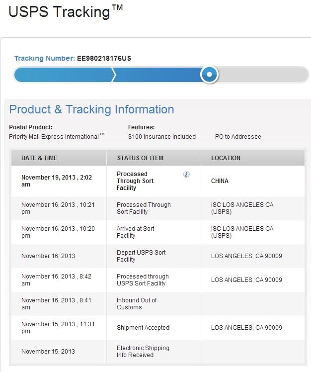 海淘Nexus 5的USPS运单信息