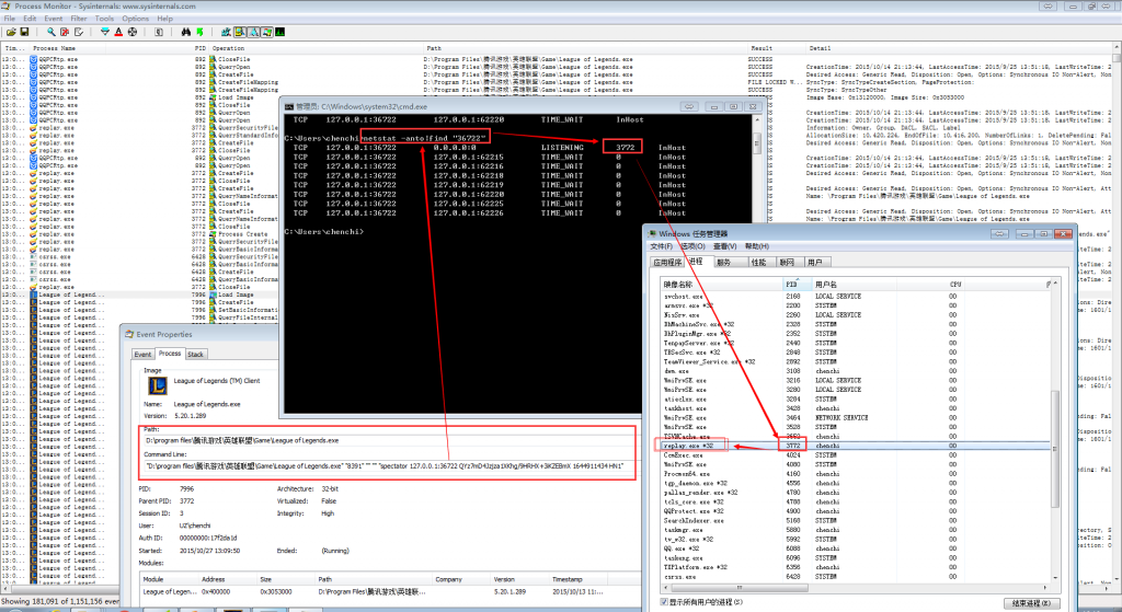 process Monitor 查看进程启动详情